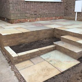 Patio and steps work completed by our talented staff